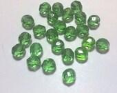 New 20 Czech Glass Beads Dark Green Round Beads 8mm