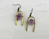 Andromache Earrings // Handmade + Brass + Raw Stone + Nickel Free