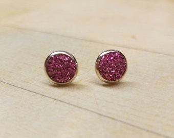 German Glass Glitter Earrings