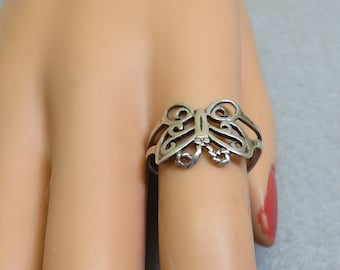 Sterling Silver Butterfly Ring  Size 9.5