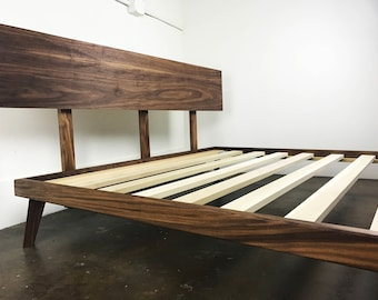 Modern Bed Frames platform bed frame with metal legs / modern and rustic bed /