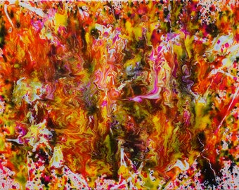 """Abstract Expressionist Painting by Artist Kellianne O'Brien """"Ablaze"""""""