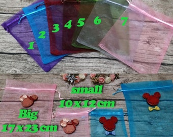 50 Organza Bags,Birthday Favor Bags, Baby shower bags, Candy Drawstring Bags, Christmas Gift Bags,Party Bags