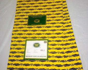 VLISCO Holland Super Block Wax /Authentic Yellow Lipstick/ Fabric/Crafts/African Clothing/ /Ankara /Vlisco Holland Block Wax 6 yards