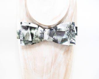 New Spring & Summer Accessories - Triangular Broken Mirror Landscape print freestyle bow tie