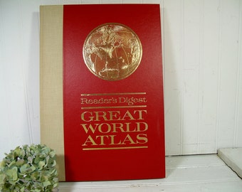 Reader's Digest Great World Atlas First Edition ©1963 - An Atlas for Tomorrow Universe, Space, Climate, Earth, World Pictorial Geography