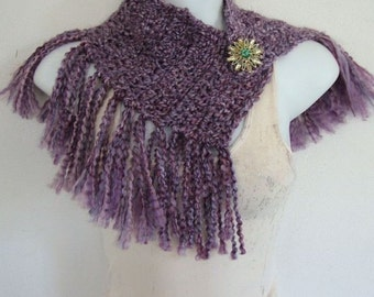 Crochet Easy Fringed Scarf Pattern Only