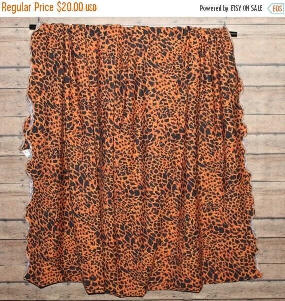 "Orange and Black Sweater Knit Scarf,Animal Print Scarf,Cheeta Print Scarf,Infinity Scarf,Loop Scarf,Men's Scarf,Women's Scarf,28"" x 55"" Wid"