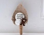 Childrens Buttonholes Best Little Man Buttonhole Boutonniere Wedding Teddy Bear and Heart Design