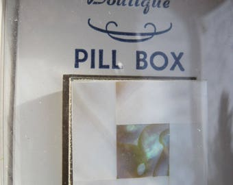 Vintage Pill Box..Mother of Pearl...70's or newer...