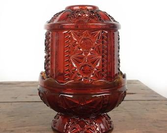 Red fairy light glimmer light ruby glass votive candleholder candle light