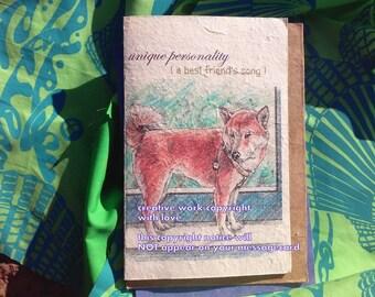 unique personality  / shiba inu/ love my Shiba Inu/storybook/personalize/sentimental/ unique empathy condolence/pet sympathy/pet cards