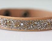Swarovski Crystal Dorado Medley Leather Cuff Bracelet