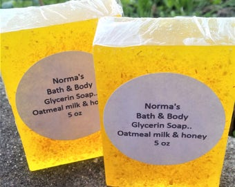 oatmeal milk and honey, health and beauty, face soap, bar soap, artisan soap, artisan soap, glycerin soap, oatmeal soap, soft soap