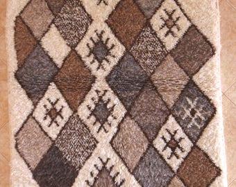 "170X110 cm 5'6"" x 3'7""    FREE SHIPPING WORLDWIDE AZ31004 Ourika ,Beni Ourain vintage berber rug Morocco,wool carpet ,boucherouite"