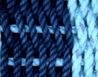 Handwoven Rug/Runner of Recycled Lobster Rope 5' x 2'