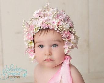 baby flower bonnet