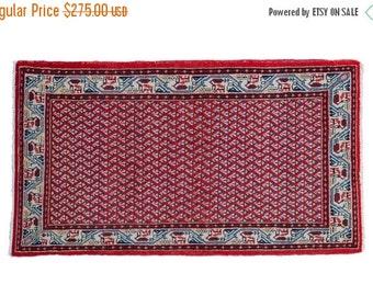 10% OFF RUG SALE Discounted 2x4 Vintage Sarouk Rug