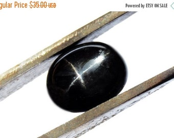 ON SALE Black Star Diopside Cabochon Stone (11mm x 9mm x 5mm) 5cts - Oval Cabochon