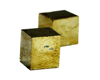 Rough Ryrite Cube Stones (2 Pieces) - Raw Pyrite Gemstone - Pair Stones - Pyrite Stone - Pyrite Crystals
