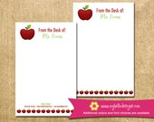 Personalized Apple Notepad - mom kid child children teacher to do list gift list pad custom personalize monogram holiday