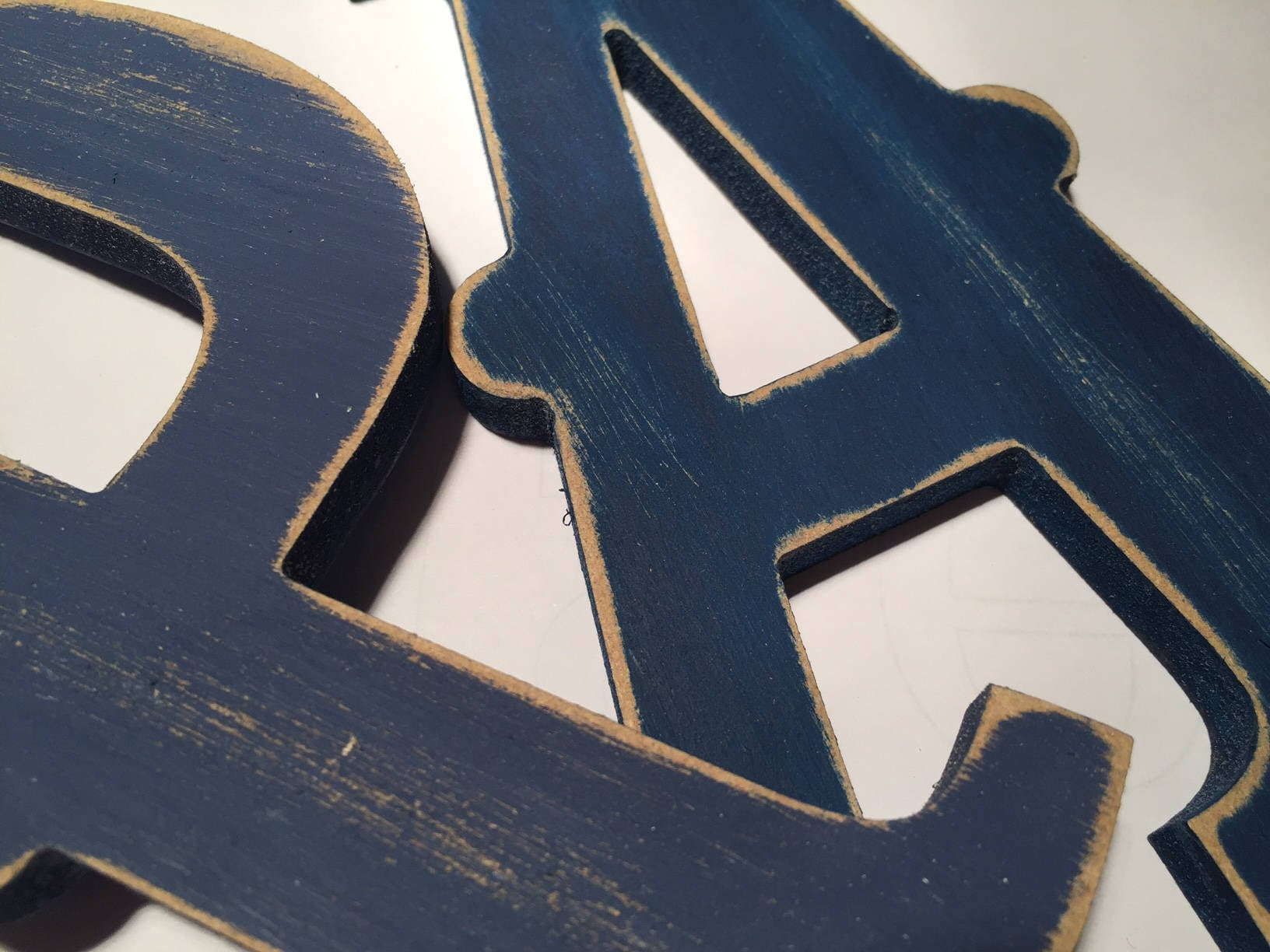 Painted Wooden Letters Carnival Font 50cm high almost