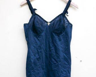amazing blue 80's bodysuit