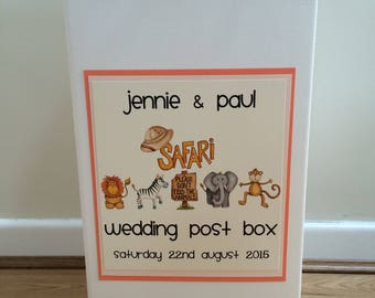 Wedding Post Box With Printed Designs Card