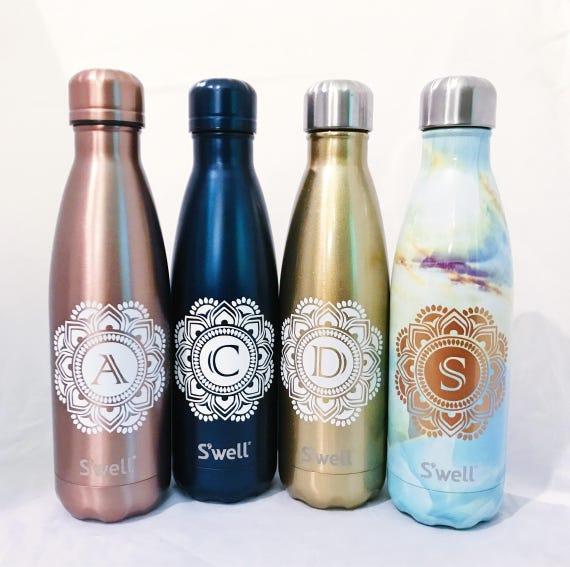 Mandala Initial S'well Bottle - Bridesmaids, Groomsmen, Teacher, Sorority, Wedding, Swell Bottle, S'well Bottle