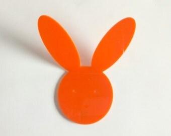 Objectify Orange Rabbit Wall Hook