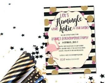 Printable flamingo bachelorette invitation / flamingle bachelorette invite / let's flamingle invite / beach bachelorette / flamingo invite