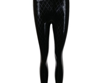 ETCHED Diamond High Waist Latex Leggings