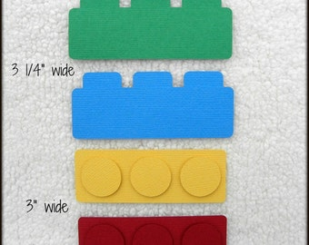 Die Cut LEGO TOY BLOCKS Premade Paper Piecing Embellishment for Card Making Scrapbook or Paper Crafts
