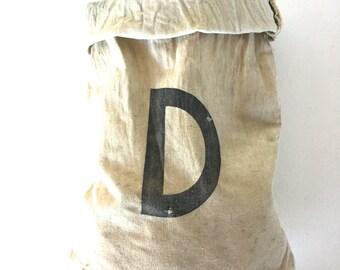 Vintage canvas money bag