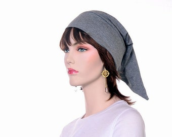 Gray Pointed Night Cap Cotton Sleep Hat Nightcap Winter Lightweight Sleeping Pajama Hat Unisex Poor Poet