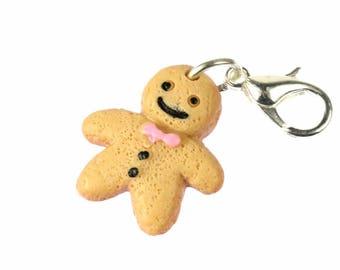 Gingerbread Man Charm Stutenkerl Weckmann Christmas Miniblings beige