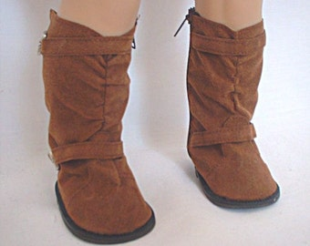 """15-18"""" Doll Brown Tall Boots, 18"""" Doll Clothes, AG Doll Shoes"""
