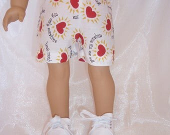 "18 Inch Doll You Are My Sunshine Doll Shorts, 18"" Doll Clothes, Girl Doll Clothes, Boy Doll Clothes, AG Doll Clothes"