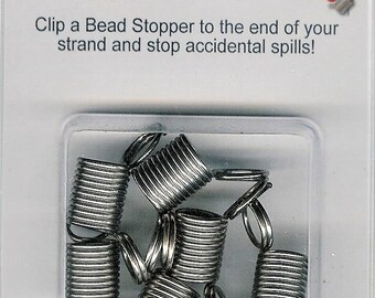 Bead Stopper, 6 Pack, Beaders Tool, Seed Bead Tool, Gift for Beader, Bead Wire Stopper, Spring Coil Tool, Bead Source, Stopper. Hemostat
