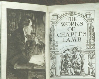 Antique book The Works of Charles Lamb Edwardian 1900s edition