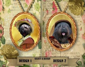 Bouvier des Flandres Jewelry. Bouvier des Flandres Pendant or Brooch. Bouvier des Flandres Necklace. Custom Dog Jewelry by Nobility Dogs