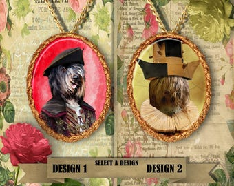 Schapendoes  Jewelry.  Schapendoes Pendant or Brooch. Schapendoes  Necklace. Schapendoes  Portrait. Custom Dog Jewelry by Nobility Dogs.