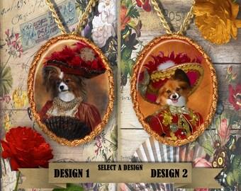 Papillon Dog Jewelry Butterfly Dog Papillon Pendant Dog Jewelry Dog Charm Custom Dog Jewelry Personalized Dog Porcelain Jewelry Nobility Dog