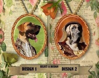 Great Dane Jewelry. Great Dane Pendant or Brooch. Great Dane Necklace. Giant Great Dane Portrait. Custom Dog Jewelry. Dog Handmade Jewelry
