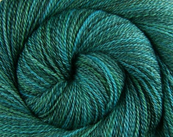 Handspun Yarn Fingering weight - IDES OF MARCH - Handpainted Blue Faced Leicester wool, 450 yards, handspun weft yarn, gift for knitter
