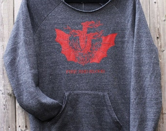 House Targaryen -- Fire & Blood -- GoT-inspired Ladies Eco-Fleece Sweatshirt