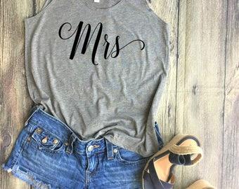 Mrs Shirt / Bridal Party Shirts,Bachelorette Party Shirts, Bridesmaid Shirts, Bridesmaid T Shirts, Bridal Shirts, Bridesmaid Gifts