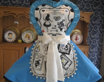 Alice in Wonderland Retro Womens Apron
