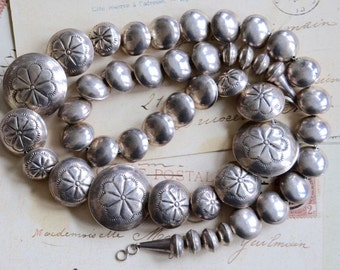 Sterling Bench Bead Necklace - Native American