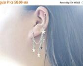 SALE Dangling Star Double Pierce Cartilage Earring